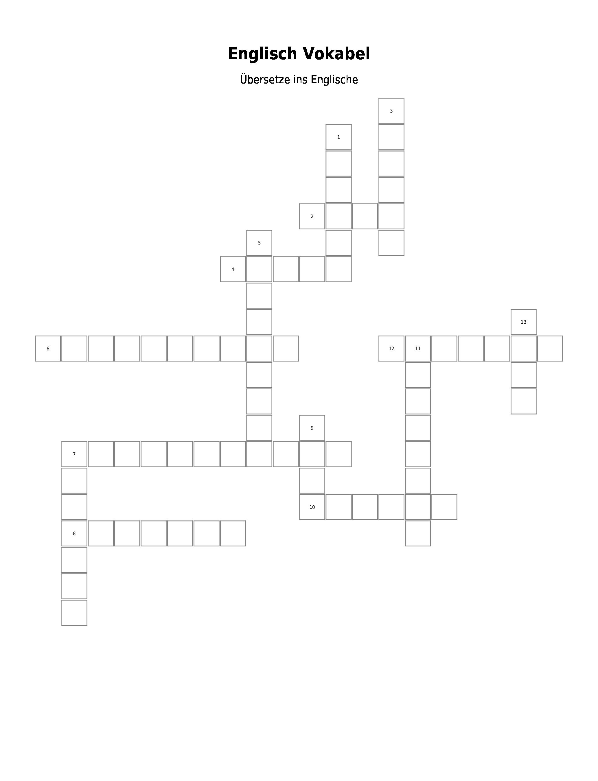 Kreuzworträtsel Mit Lösungswort Erstellen