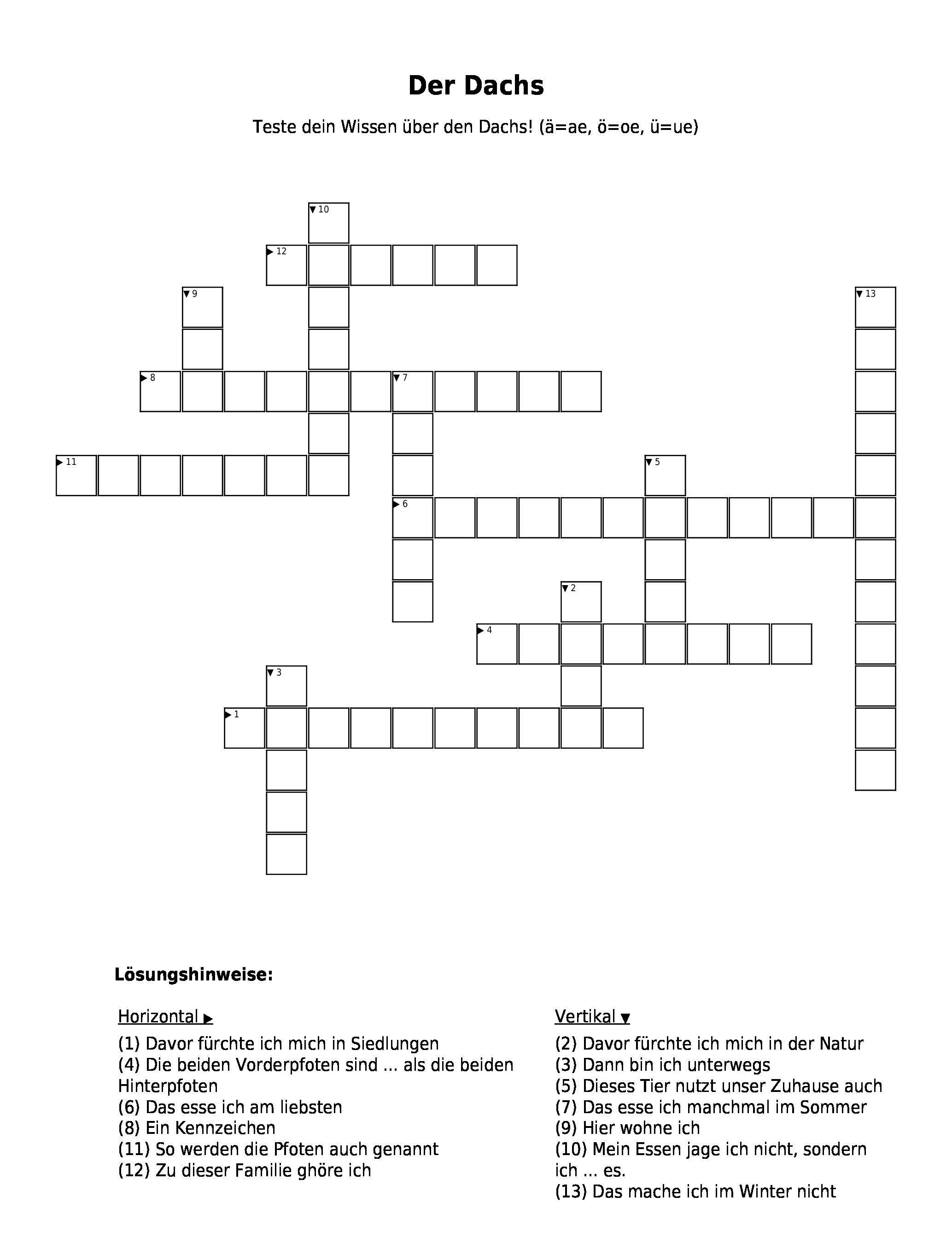 Kreuzworträtsel De