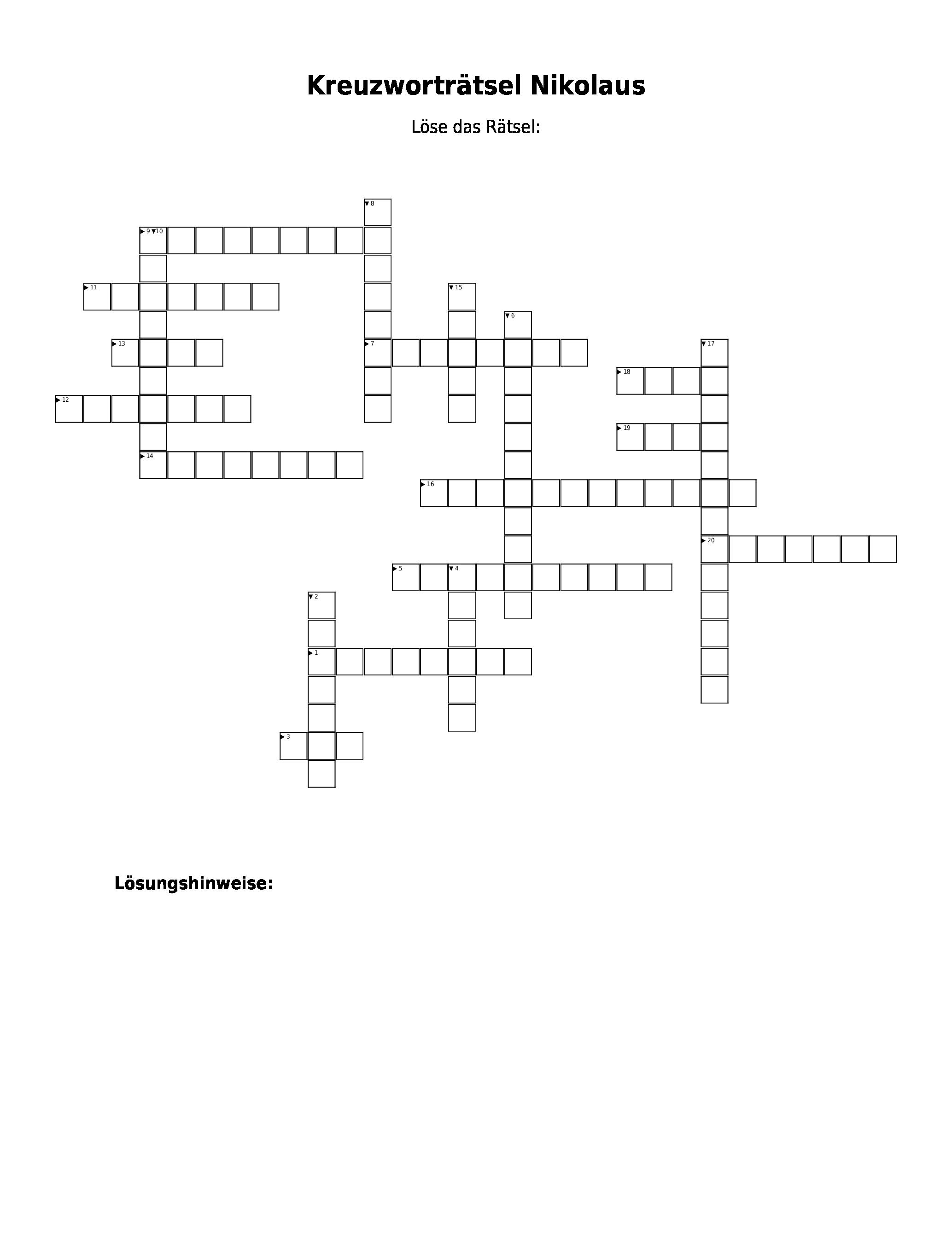 Brav Kreuzworträtsel